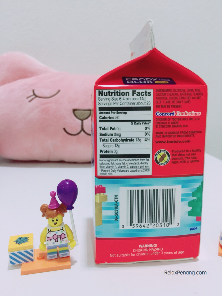 Candy Blox Nutrition Facts