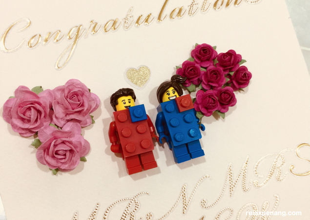 DIY Creative Lego Wedding Card