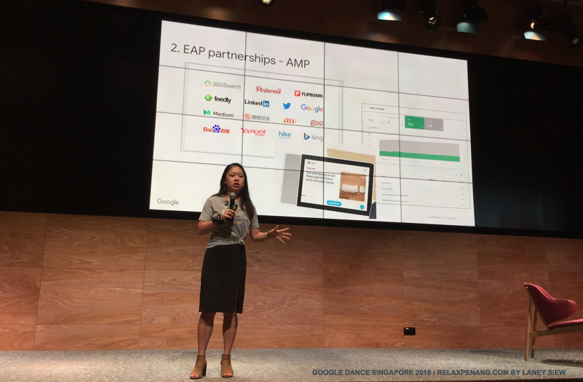 Early Adopted Program EAP Partnerships AMP Google Dance Singapore 2018 Stancie Chan