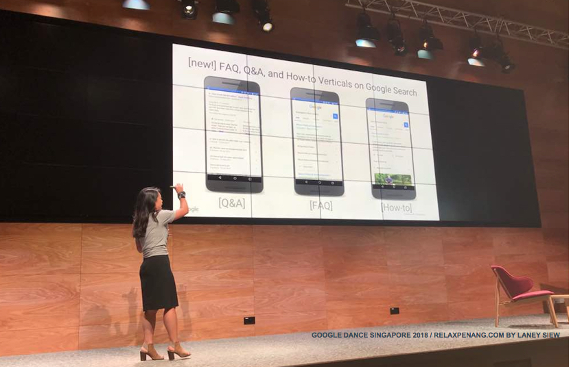 FAQ QnA How To Verticals on Google Search Google Dance Singapore 2018 Stacie Chan