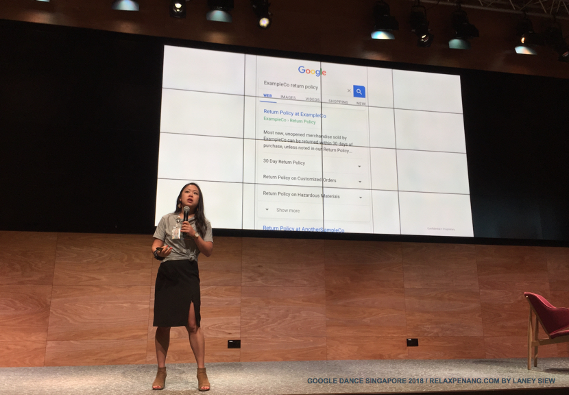 Example for FAQ Google Dance Singapore 2018 Stacie Chan