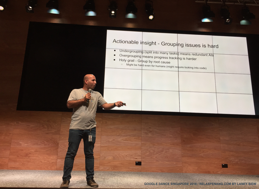 The New Search Console Actionable Insight Grouping Issues is Hard Google Dance Singapore 2018 Yinnon Haviv