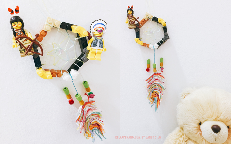 DIY Native American Indian Style LEGO Dream Catcher