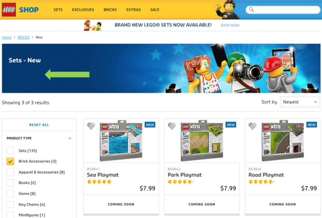 LEGO Category Page Thin Content