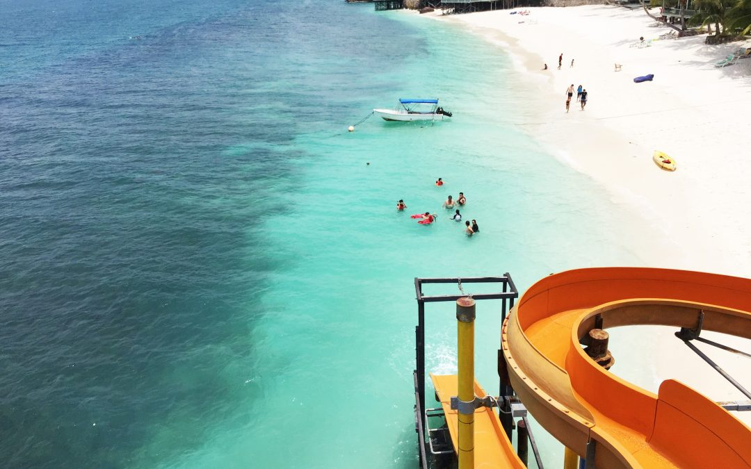 Pulau Rawa : Paradise Coral Island with Giant Water Slide