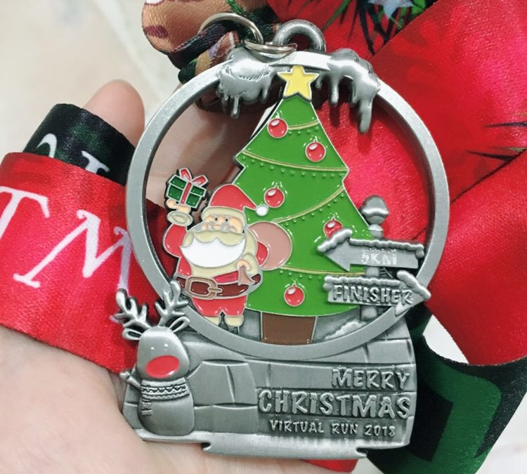 Christmas Running Medals.Christmas Virtual Run 5km All I Wanted For Christmas Is
