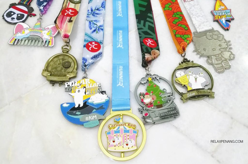 Christmas Running Medals.Farewell 2018 With 50km Run And 9 Medals Relax Penang