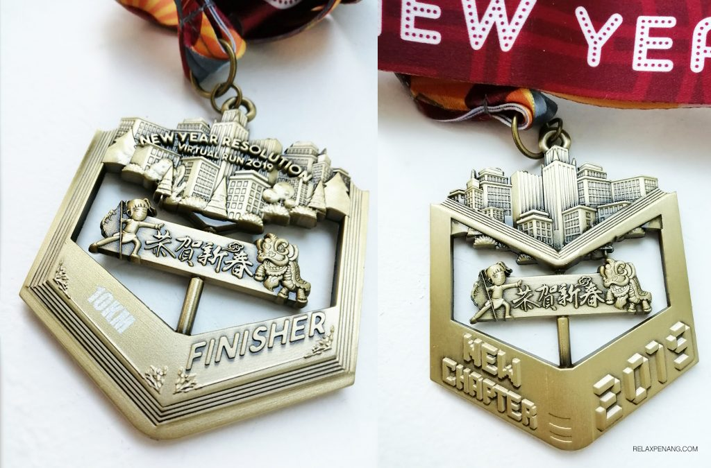 New Year Resolution Virtual Run 2019 10KM Medal