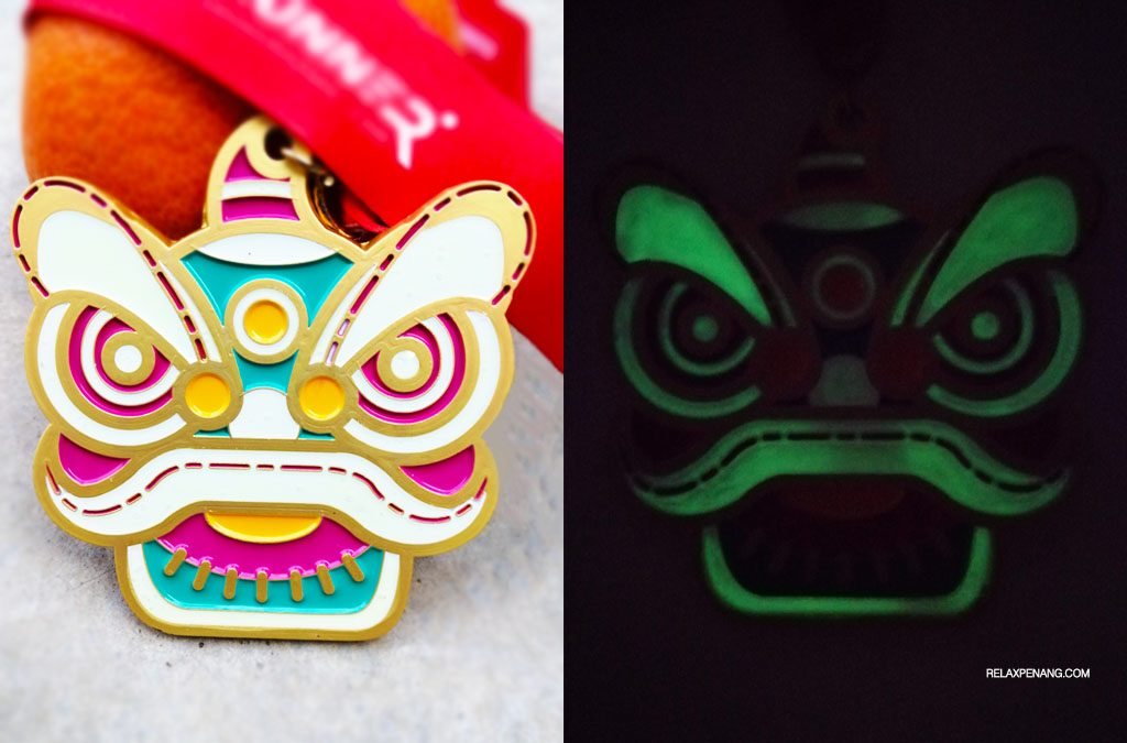 CNY Gong Xi Fa Cai Virtual Run 8KM: The Glow In The Dark Lion Medal!