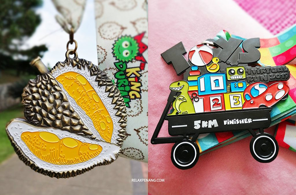 15KM Virtual Run Medals: Run for Durian and Childhood Toys