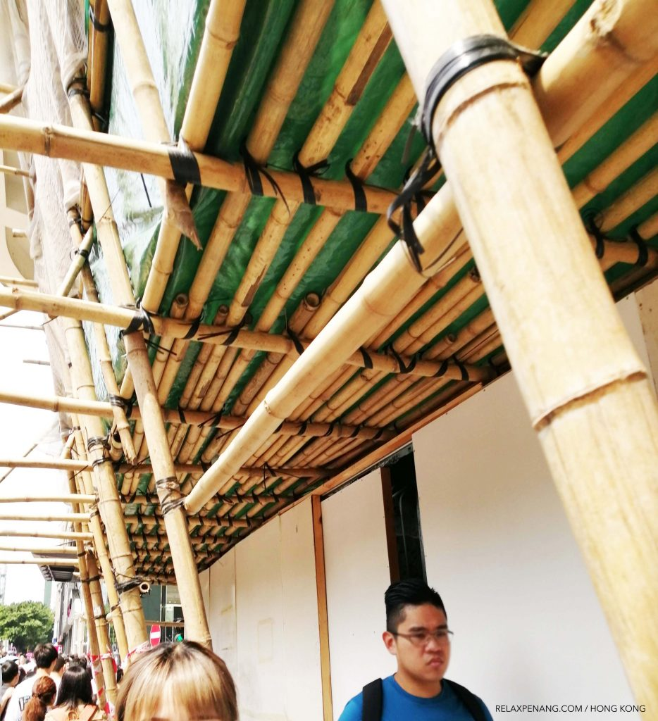 100% bamboo scaffoldings are use to support building structure construction.