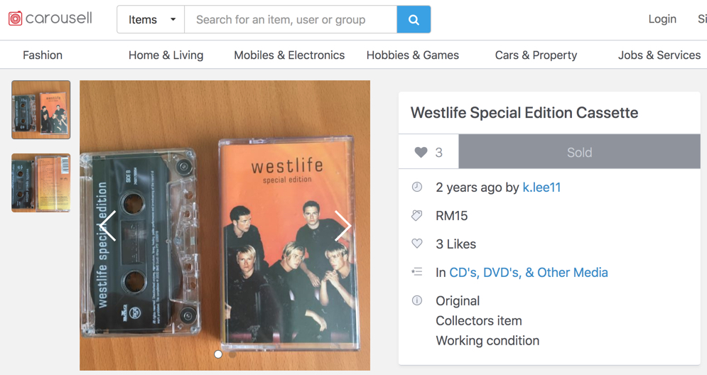 Westlife Special Edition Cassette