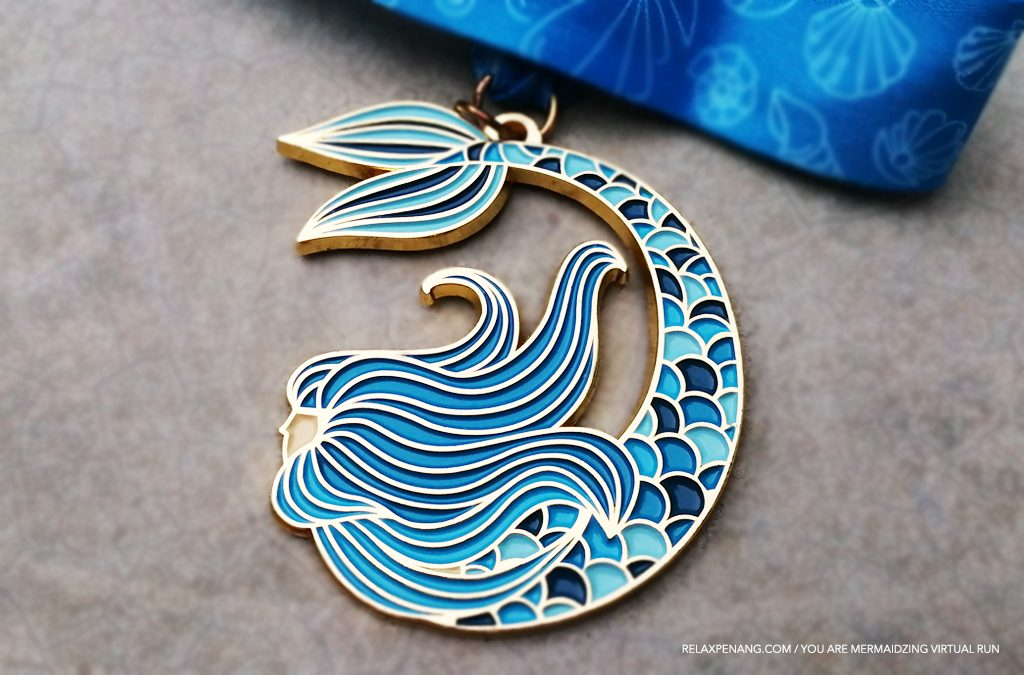 You Are Mermaidzing 10KM Virtual Run Medal – Run For Mermaid