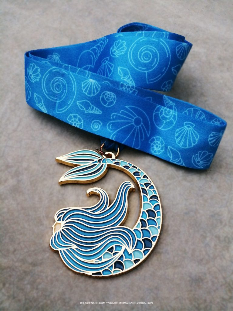 You Are Mermaidzing 10KM Virtual Run Mermaid Medal 2019