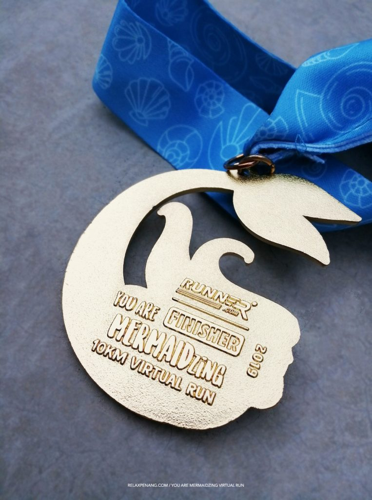 You Are Mermaidzing Finisher Medal 10KM Virtual Run