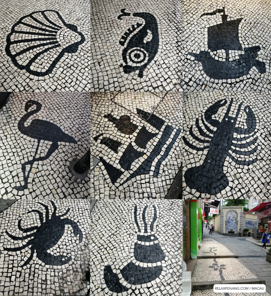 Macau Portuguese Culture Cobblestone Pavement Art