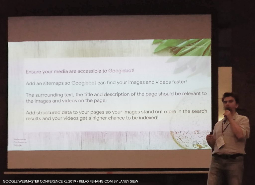 Gary Illyes SEO on Images Videos Google Webmaster Conference KL Malaysia Aug 2019