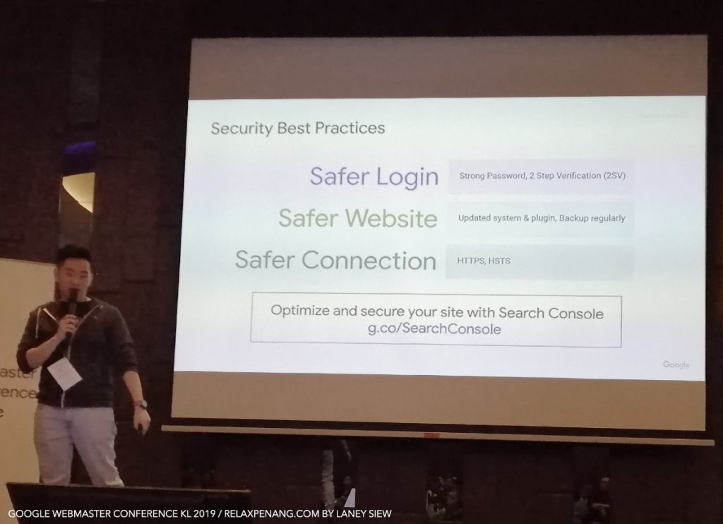 Security Best Practices by Aldrich Christopher Google Webmaster Conference KL Malaysia Aug 2019