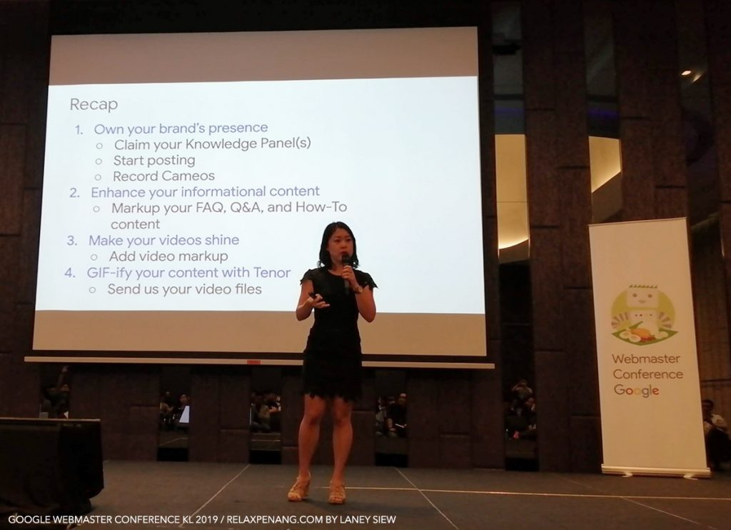 Stacie Chan Shares Partnering with Google Search & Assistant Google Webmaster Conference KL Malaysia 2019