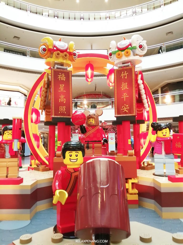 LEGO Ambient Advertising Chinese New Year Lion Dance Rat Year