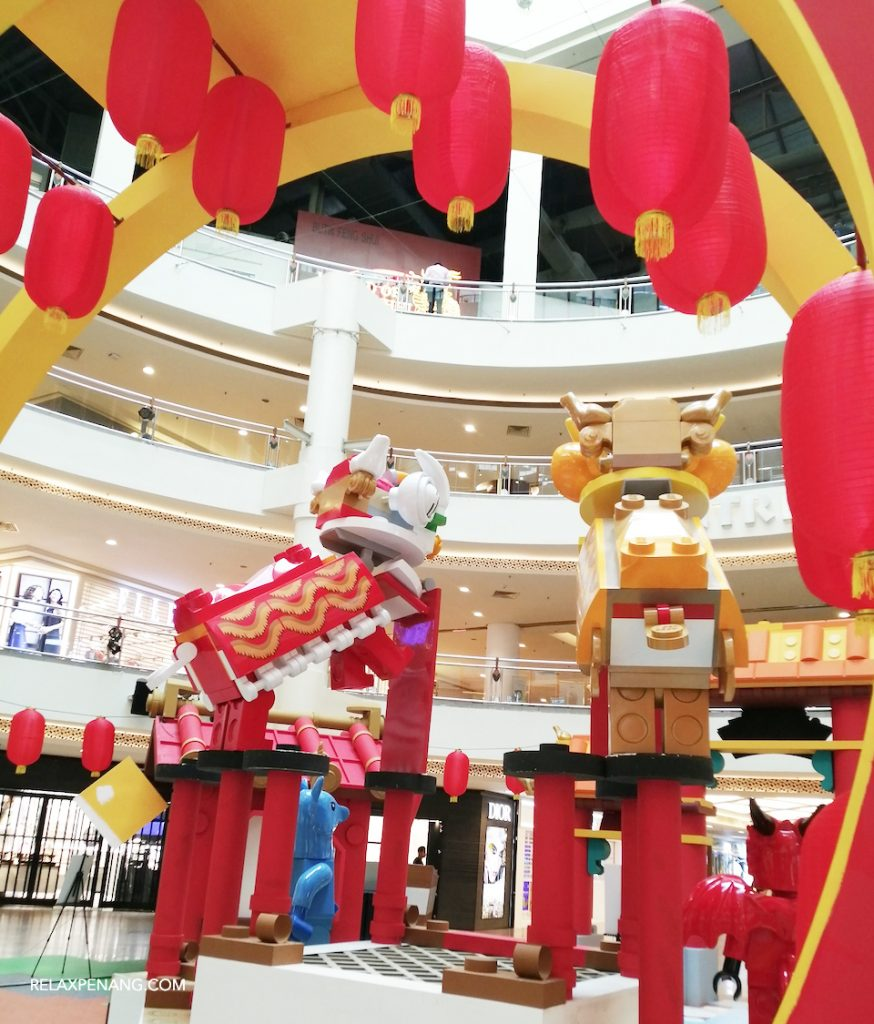 LEGO Chinese New Year Lion Dance Decoration Ambient Advertising