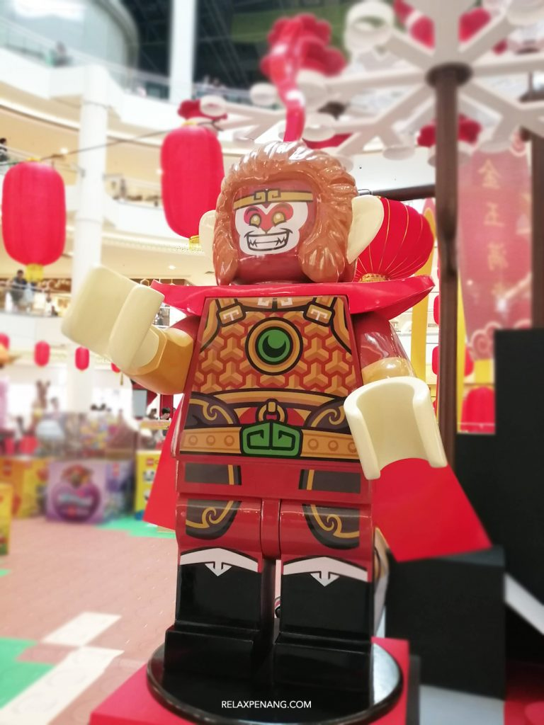 LEGO Lion Dance Monkey King Life Size Minifigure Chinese New Year Ambient Advertising Decoration