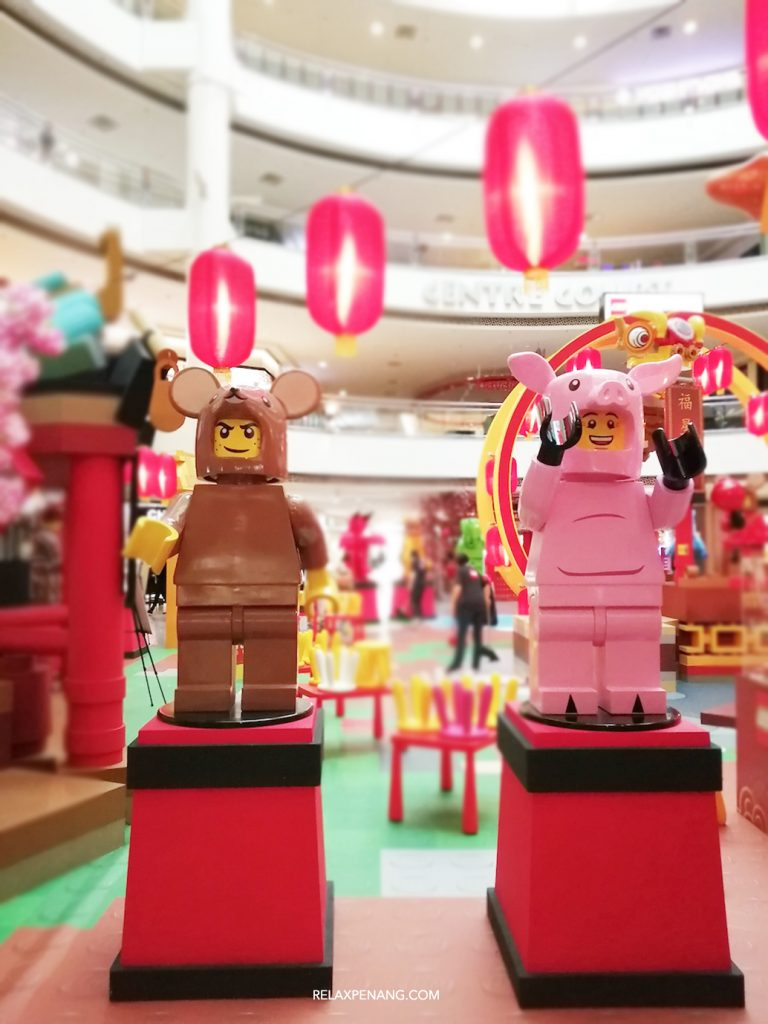 LEGO Lion Dance Pig Life Size Minifigure Chinese New Year Ambient Advertising Decoration
