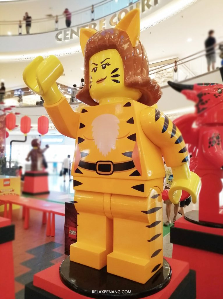 LEGO Lion Dance Tiger Minifigure Life Size CNY Ambient Advertising Decoration